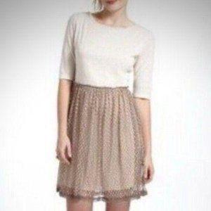 Anthropologie Lili's Closet Beige Lace Dress S